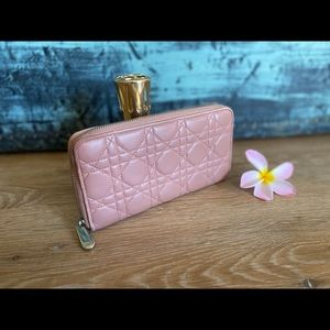 Authentic Dior Zip Around Cannage Wallet